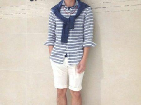 Polo shirt & half pants