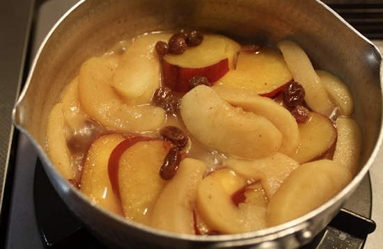 Simmered apple