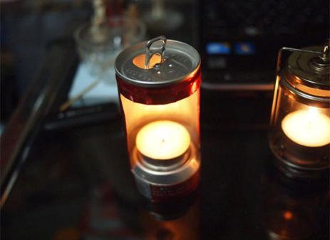 アルミ缶提灯