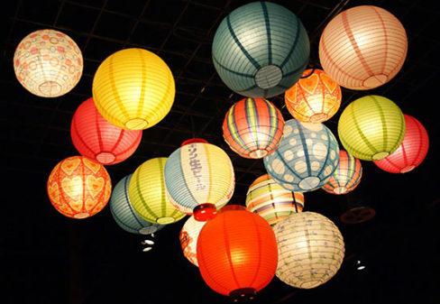 綺麗な日本の提灯