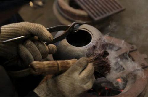 南部鉄器の製造工程