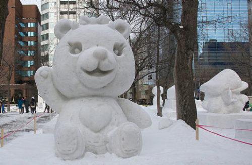 くまの雪像