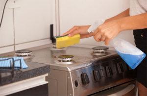 台所も丁寧に掃除