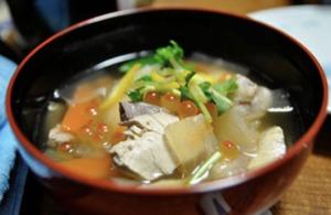 北海道の鮭とイクラの雑煮