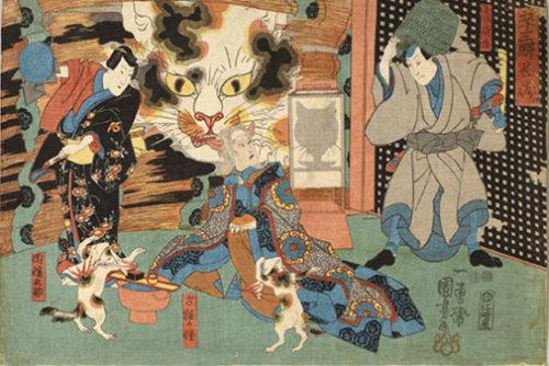 浮世絵の化け猫