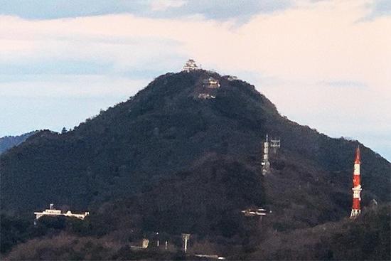 金華山の頂上