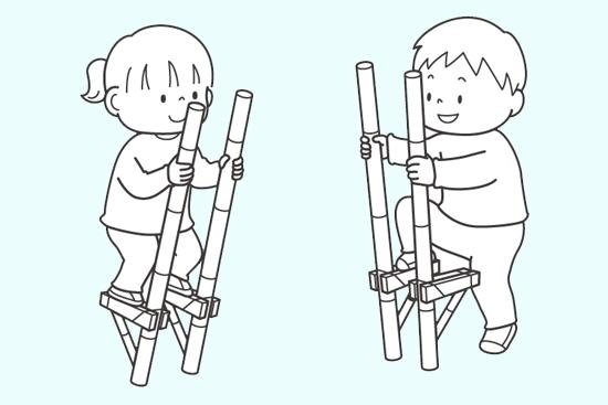 竹馬のイラスト