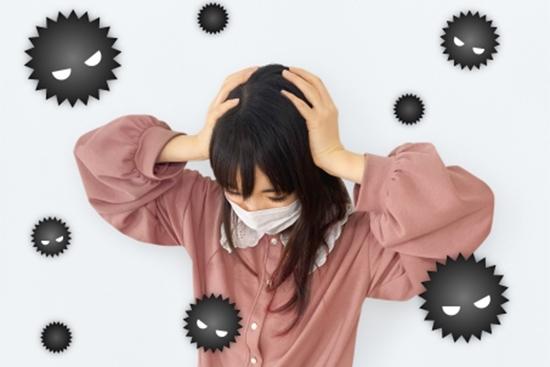 ウイルスに悩む人