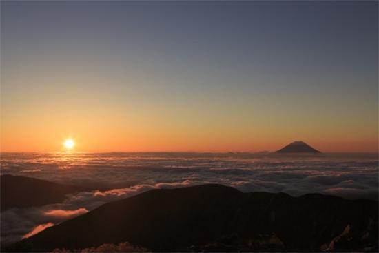 2021年元旦の富士山ご来光