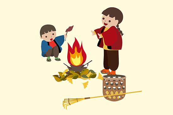日本の焚き火のイメージ