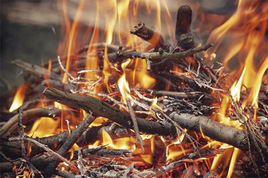 薪はよく乾燥したものを使う