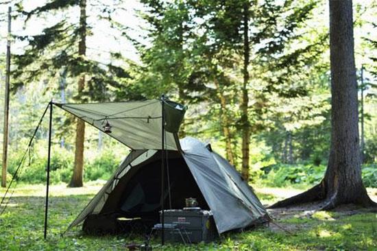 昔の生活が現代のキャンプ