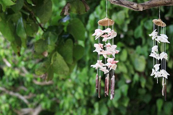 木や竹などの自然の素材は音が優しく静か