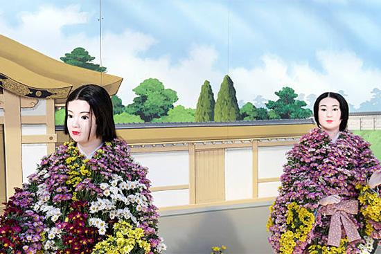 菊人形の登場